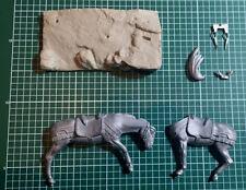 METAL MODELES - HORSE 54mm WHITE METAL