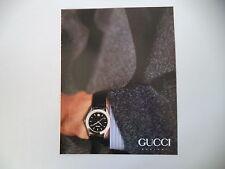 advertising Pubblicità 1991 GUCCI OROLOGI
