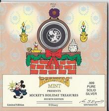 Mickey's Holiday Treasures (.999 Pure Solid Silver Coin)  Disney/Rarities Mint