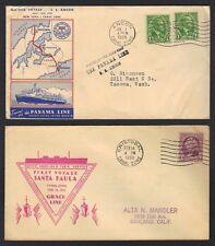 US CANAL ZONE 1930's FOUR NAVY CVRS SANTA PAULA SS ANCON USS SIRIUS & US FRIGATE