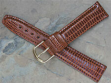 Hirsch 18mm padded lizard grain stunning leather vintage watch band great value