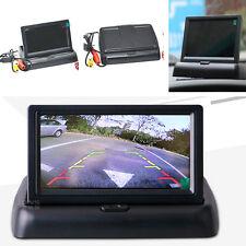 """4.3"""" plegable LCD Color Automóvil Auto Retrovisor Monitor Pantalla De Estacionamiento Reversa"""