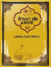 [LANNA] Thailand Natural Herbal Detox Foot Patch 10 Pcs / 1 Pack NEW
