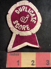Vtg Felt DUPLICATE SCORE Bowler Patch Bowling Ball & Pin 80C1