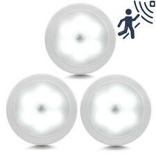 6x 6LED Sensor de Movimiento Luces Luz Nocturna Infrarrojo Pasivo Inalámbrico Batería Gabinete Lámpara De Escalera