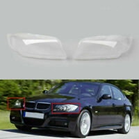 Front L+R HID Xenon Headlight Headlamp Lens Cover For BMW 3 Series E90 05-12 A01