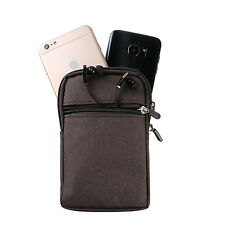 "5.5"" Brown Phone Case Cover Pouch Bag Belt Clip Loop Holster for iphone 7 Plus"