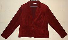 New Women Corduroy blazer Jacket Cranberry color. Size 18. By Studio Works