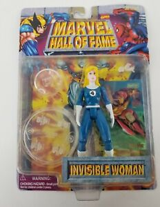 MARVEL HALL OF FAME- INVISIBLE WOMAN FIGURINE NEW- 1996 TOY BIZ