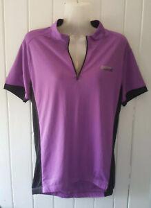 Ridge Women's Short Sleeve Cycling Jersey Lilac And Black Size 14 BNWT