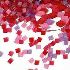 Kunstharz Mosaik Glitter 5x5mm Mix Pink 61101
