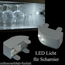 2 x LED Schranklicht Kleiderschranklicht Küchenschrank Schrank Lampe Scharnier