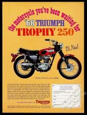 1968 Triumph Trophy 250 motorcycle color photo vintage print ad