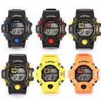 Men's Digital Sports Date Alarm LED Military Silicone Waterproof Wrist Watches