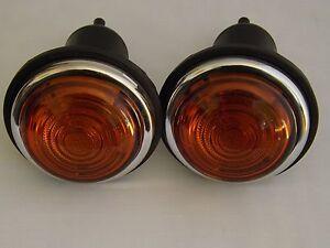 LUCAS TYPE L488   INDICATOR  LIGHT UNIT PAIR 12V  ( GLASS LENS)