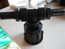 """IBC Fass Adapter S60x6 mit 1"""" Tüll zubehör Regentonne Wasserfass Verbindung"""