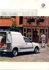 VW Caddy Prospekt 4 02 brochure Autoprospekt Auto PKWs Deutschland Europa 2002