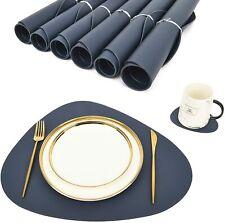 Platzdeckchen Tischsets Untersetzer Abwaschbar Leder Tischmatte Platzset Neue