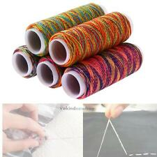 5pcs 110M Rainbow Waxed Thread Repair Cord String Sewing Leather Hand Stitching