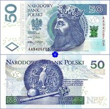 POLAND 50 ZLOTYCH 05.01.2012(14) *P-185a *FIRST PREFIX AA*UNC* Banknote