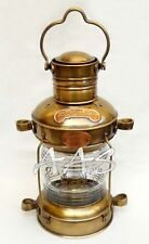 Antique Brass & Copper Anchor Oil Lamp Nautial Maritime Ship Boat Light Lantern