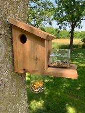 Outdoor Feeder / Chipmunk Feeder / Bird Feeder / Cedar Outdoor Animal Feeder