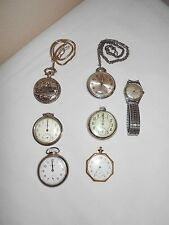 LOT OF 6 VINTAGE POCKET WATCHES FOR PARTS OR REPAIR