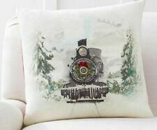 Pottery Barn Christmas Nostalgic Santa Train Pillow Cover