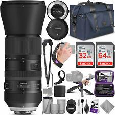 Tamron SP 150-600mm F/5-6.3 Di VC USD G2 Lens for Canon DSLR w/ Complete Bundle