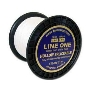 Jerry Brown Line One Hollow Core Spectra Braid 600yds 80lb Color: White
