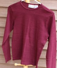 Woman's Dark Red Shirt by Basic Editions; Size:  S