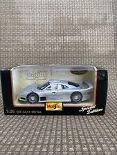 Maisto Mercedes Benz CLK GTR Street Version Silver 1:26 Diecast Car Special Ed