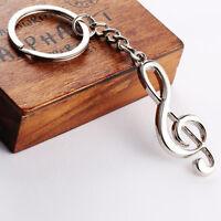 Creative Music Symbol Metal Keychain Ring Keyring Key Fob Funny Xmas Gifts l Jf