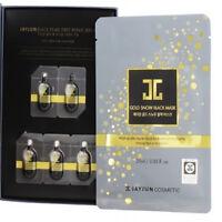 [JAYJUN] Gold Snow 5 Black Mask and 5 Serum Treatment, High Quality Facial Mask