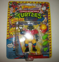 Teenage Mutant Ninja Turtles TMNT Vtg Figure MOC Sealed Football Leo TD TOSSIN'