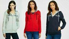 NEW! Nautica Women's Full Zip Logo Hoodie Sweatshirt Jacket - VARIETY