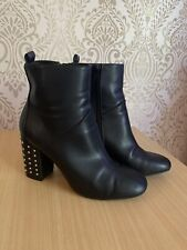 Size 5 Black Ankle Boots By River Island