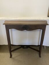 Victorian Hand Carved Mahogany  Antique Replica 31 in Console Table