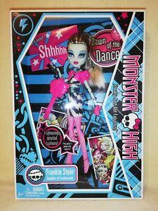 Monster High Frankie Stein- Dawn Of The Dance 2009 BNIB. SUPER SASSY SET!