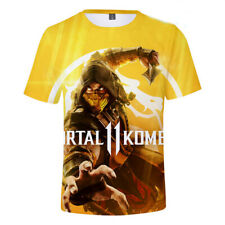 3D Print Women Men T-Shirt Short Sleeve Tees Tops Movie Mortal Kombat Plus Size