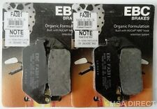 Harley Davidson XL883R (2005 to 2013) EBC Organic FRONT Brake Pads (FA381 x2)