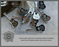 Personalised Acoustic Guitar Custom Confetti Wedding Favours, Mr Mrs Table Decor