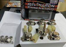 Kluson Revolution 3+3 Nickel locking NO Collar tuners fits Gibson 59 reissue,335