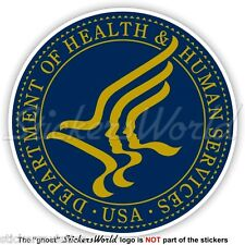 US DEPARTMENT of HEALTH & HUMAN SERVICES Seal HHS USA American Sticker Decal