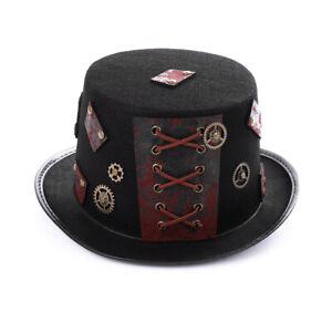 Unisex Gothic Steampunk Halloween Hat Cap Retro Fancy Dress Party Accessory