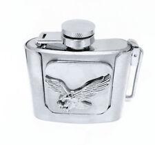 Eagle amovible Hip Flask Boucle de ceinture chasse boire cadeau alcool s'adapte Snap Belt