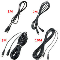 1/2/5/10M 5.5x2.5mm DC 12V Power Extension Cable Cord Adapter For CCTV Camera US