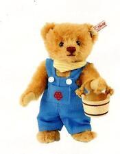 "STEIFF ""JACK"" EAN 664342  MOHAIR TEDDY BEAR W/BUCKET UK /IRELAND EXCLUSIVE"