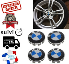 ENVOI SUIVI FRANCE LOT de 4 Cache moyeu centres de roue logo BMW 68mm neuf