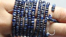 100% NATURAL  BLUE SAPPHIRE  DRILLED BEADS FACETD  76 CTS IN LOOSE GEMSTONE
